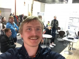 Janne Leinonen from Innoventum enjoying a selfie moment