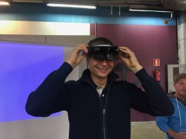 Visitors had also the chance to try out Augmented reality with Hololens glasses